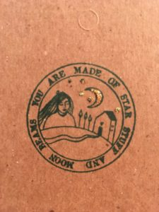 A lovely Rubber Moon stamp