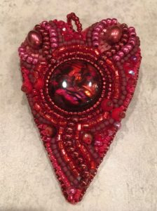 Beaded heart all finished!
